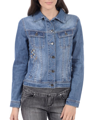 Lola Jeans Gabrie Cotton Jean Jacket-LIGHT INDIGO-Medium