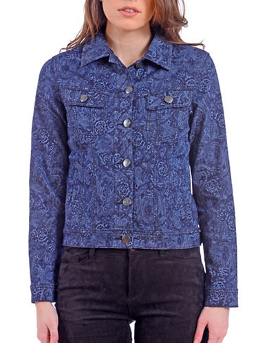 Lola Jeans Paisley Cropped Jacket-PAISLEY-Medium