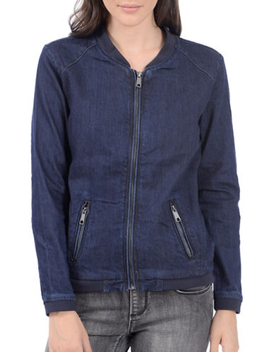 Lola Jeans Lucy Cotton Jean Jacket-SLATE BLUE-Large
