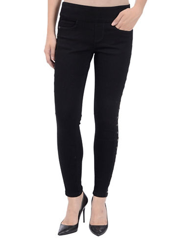 Lola Jeans Jesse Pull-On Jeans with Gromets-BLACK-8