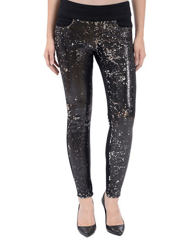 Lola Jeans Julia Sequin Pull-On Jeans-BLACK-0