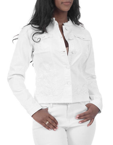 Lola Jeans Bluebell Denim Jacket-WHITE-3X
