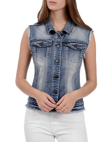 Lola Jeans Cardil Denim Vest-LIGHT BLUE-Large