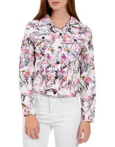 Lola Jeans Gabriella Printed Jacket-PARADISE-X-Large