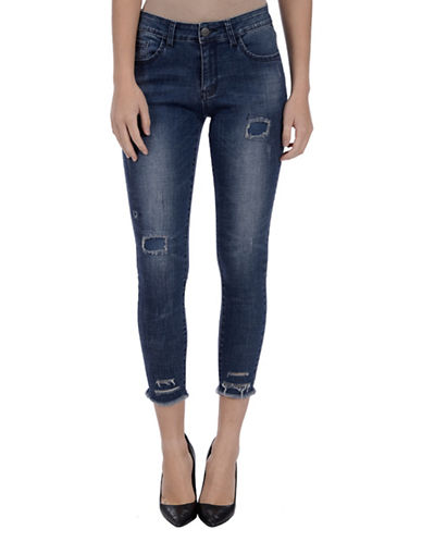 Lola Jeans Tulip Mid-Rise Cropped Jeans-DARK BLUE-31