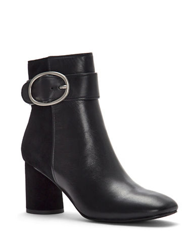 Donald J. Pliner Gabe Buckle Booties-BLACK-9.5
