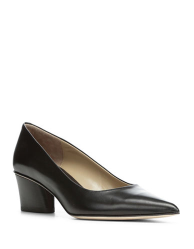 Donald J. Pliner Gem Leather Pumps-BLACK-8.5