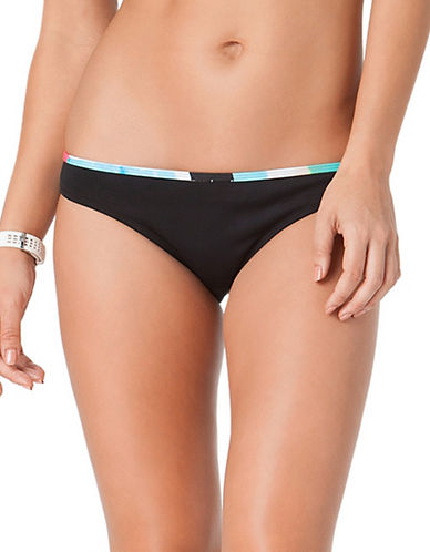 Anne Cole Locker Snow Cone Hipster Swim Bottoms-BLACK-X-Large