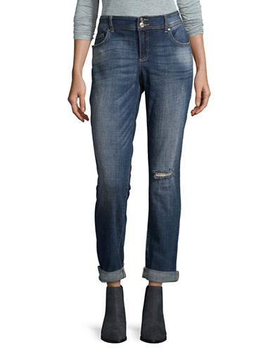I.N.C International Concepts Slim-Fit Distressed Boyfriend Jeans-BLUE-4