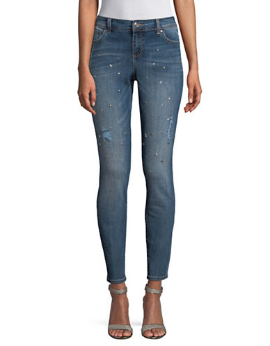 I.N.C International Concepts Studded Distressed Skinny Jeans-BLUE-8