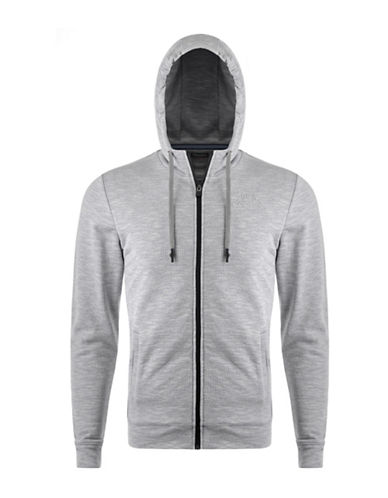 Kappa Slim-Fit Training Hoodie-MEDIUM GREY-X-Large 88322508_MEDIUM GREY_X-Large