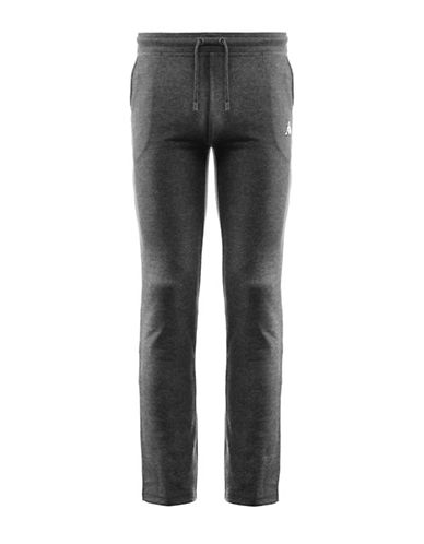 Kappa Slim-Fit Training French Terry Fleece Pants-GREY-Large 88322482_GREY_Large