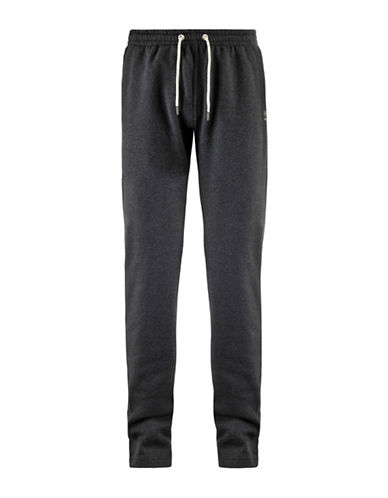 Kappa Straight Leg Drawstring Sweatpants-DK. GREY-Medium