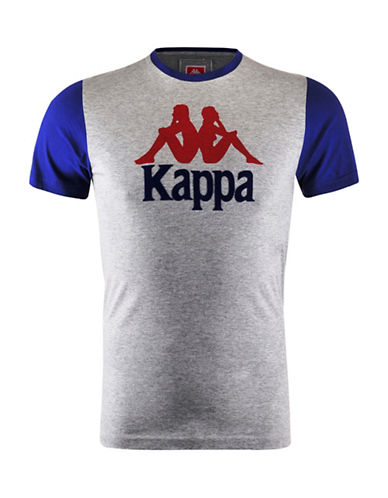 Kappa Contrast Graphic T-Shirt-MED GREY-XX-Large
