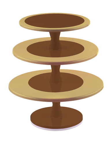 Silikomart Hula Up Three-Tier Cake Stand-BROWN-One Size