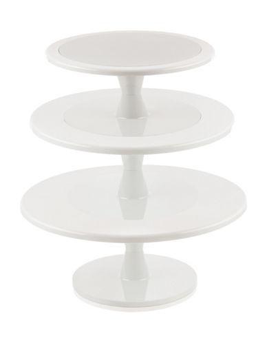 Silikomart Tiered Cake And Cupcake Stand-WHITE-One Size