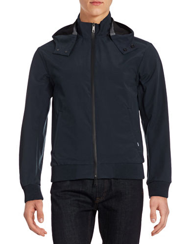Armani Jeans Zip Bonded Jacket-BLUE-Large 88329167_BLUE_Large