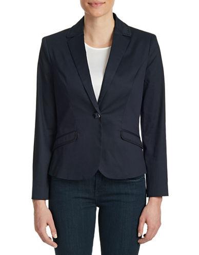 Armani Jeans Stitch Trim Stretch Jacket-BLUE-0