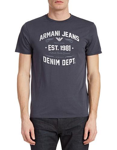 Armani Jeans Vintage Print T-Shirt-BLUE-Small 88157900_BLUE_Small