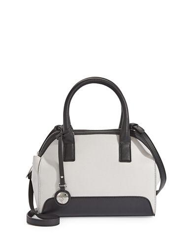 Armani Jeans Saffiano Bowling Handbag-WHITE-One Size