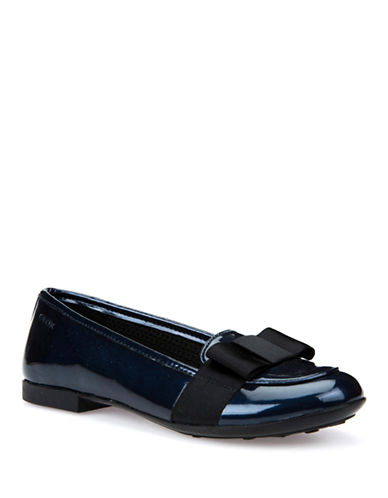 Geox Respira Leather Ballet Flats-BLUE-3
