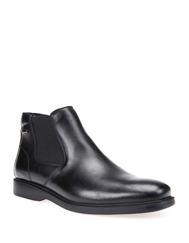 Geox Brayden Leather Chelsea Boots-BLACK-EU 45/US 12