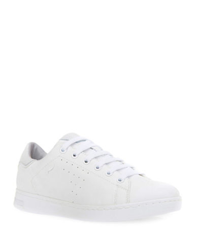 Geox Jaysen Leather and Suede Low-Top Sneakers-WHITE-EUR 37/US 7