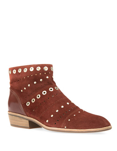 Geox Urban Suede Ankle Boots-BROWN-EUR 37/US 7