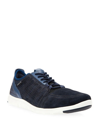 Geox Xunday 2Fit Perforated Suede Sneakers-NAVY-EU 45/US 12