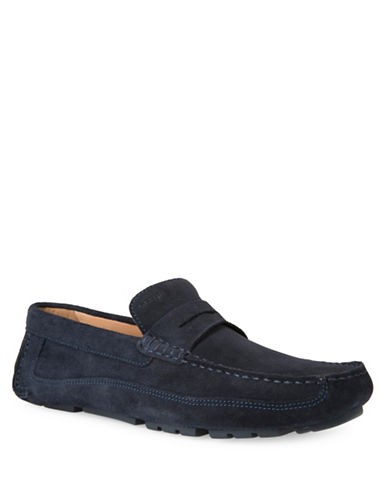 Geox U Melbourne A Leather Slip-On Shoes-BLUE-EU 44/US 11