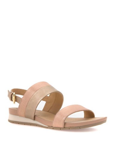 Geox Formosa Leather-Combo Sandals-ROSE GOLD-EUR 36.5/US 6.5