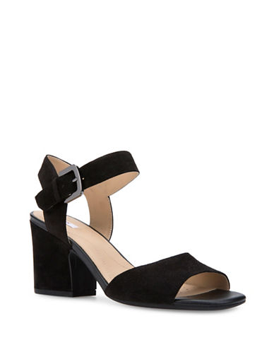 Geox Seasonal Trend Marilyse Leather Sandals-BLACK-EUR 40/US 10