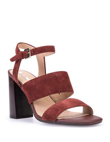 Geox Audalies Suede Sandals-BROWN-EUR 37.5/US 7.5