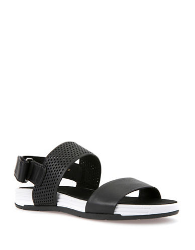 Geox Koleos Leather Sandals-BLACK-EUR 37/US 7