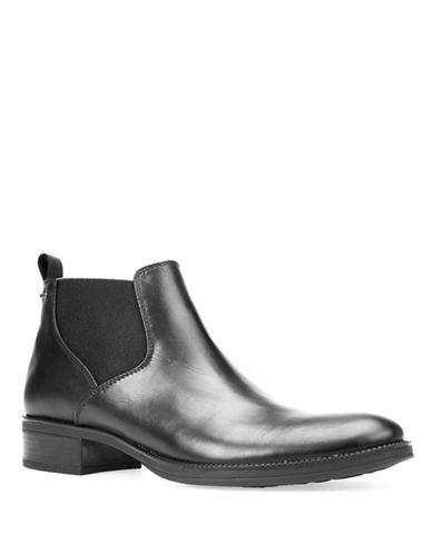 Geox Meldi Abx Leather Booties-BLACK-EUR 40/US 10