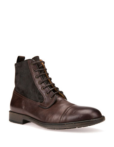 Geox Jaylon Respira Cap Toe Ankle Boots-BROWN-EU 41/US 8