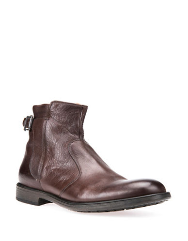 Geox Jaylon Respira Leather Ankle Boots-BROWN-EU 41/US 8