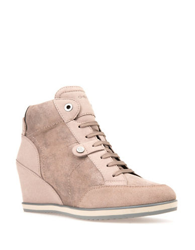 Geox Wedge Sneakers-TAUPE-EUR 39/US 9