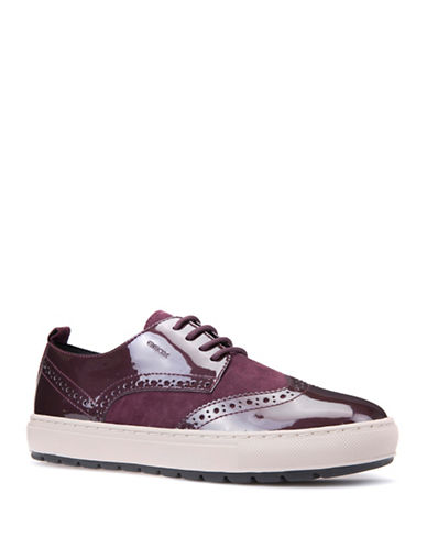 Geox Lace-Up Low Top Sneakers-PURPLE-EUR 36/US 6
