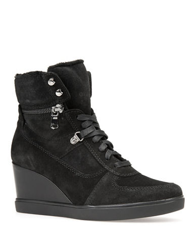 Geox Eleni Wedge Sneakers-BLACK-EUR 36/US 6