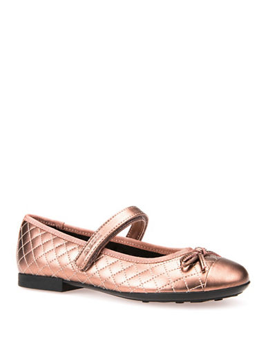 Geox Respira Leather Ballet Flats-PINK-12