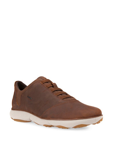 Geox Nebula Respira Leather Sneakers-LIGHT BROWN-EU 45/US 12