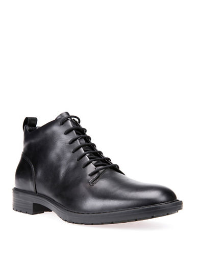 Geox Kapisian Respira Leather Ankle Boots-BLACK-EU 40/US 7