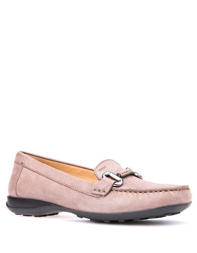 Geox Euro Leather Bit Loafers-TAUPE-EUR 37.5/US 7.5