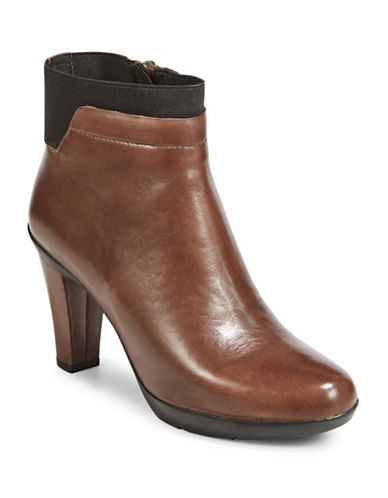 Geox Elastic Top Booties-BROWN-EUR 38/US 8