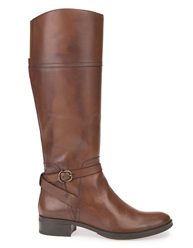 Geox Meldi Abx Leather Booties-BROWN-EUR 39/US 9