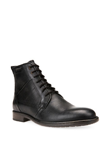 Geox Jaylon Respira Leather Ankle Boots-BLACK-EU 46/US 13