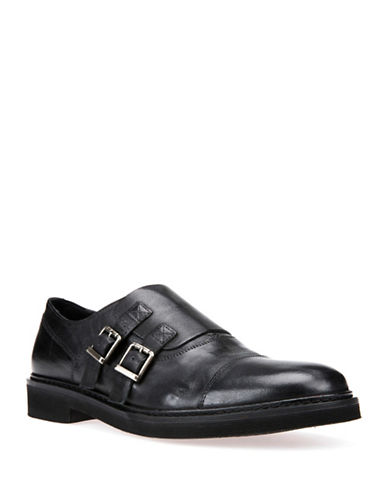 Geox Damocle Double Monk-Strap-BLACK-EU 42/US 9