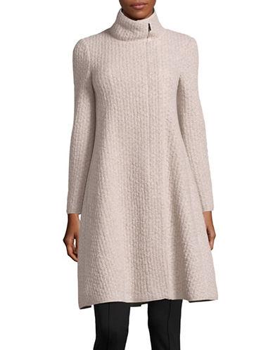 Armani Collezioni Jacquard Wool-Blend Coat-BEIGE-EUR 44/US 8