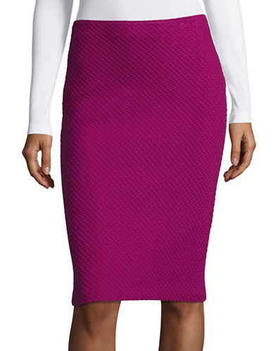 Armani Collezioni Jacquard Jersey Pencil Skirt-PURPLE-13X72 INCHES